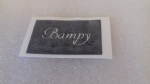 Bampy word stencils  for etching on to glass  Fathers Day  gift present  hobby craft Wales welsh